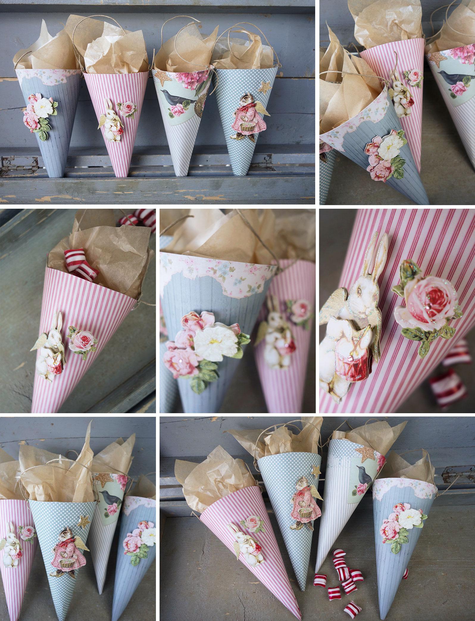 Christmas-paper-cones