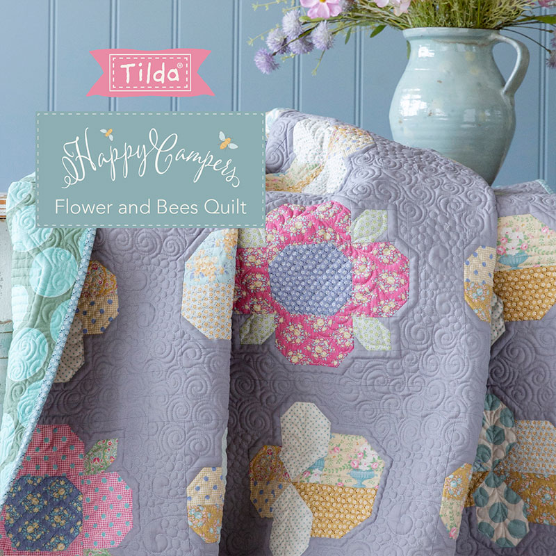 Flower And Bees Quilt