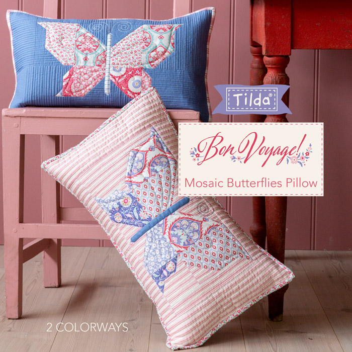 Mosaic Butterflies Pillow - Cuscino