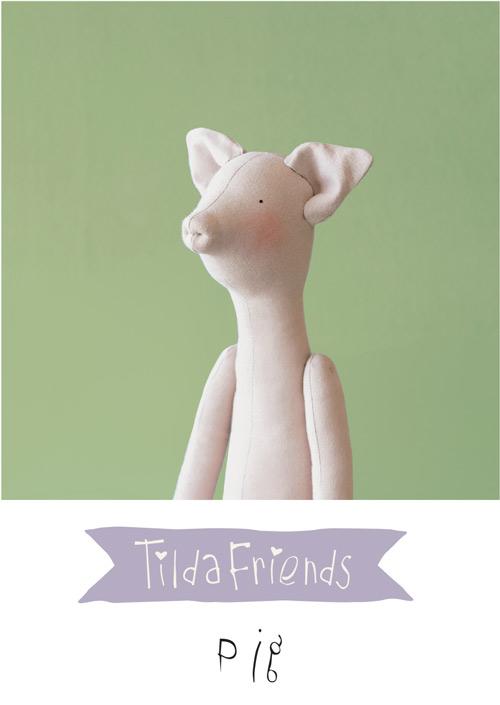 Tilda Friends PIG - Maiale Tilda