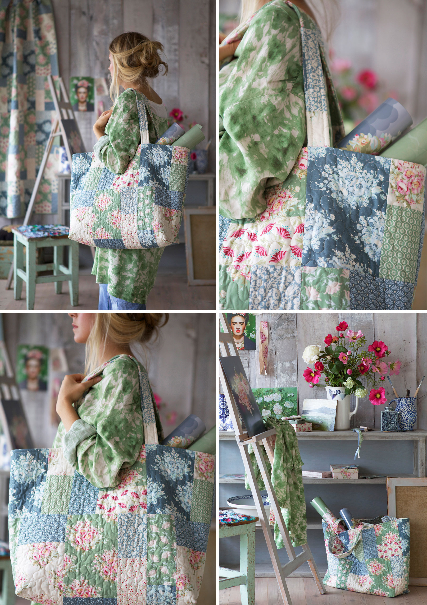 Painting-Flowers-Bag
